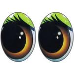 Овальные глаза для игрушек GO-12