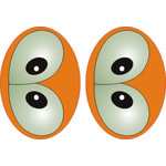 Овальные глаза для игрушек GO-13L