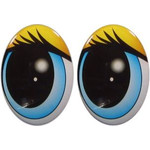 Овальные глаза для игрушек GO-6